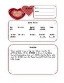 Valentine's Day Math Warm Up