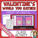 Valentine's Day Would You Rather Questions ~~FREE~~
