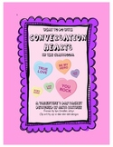 Valentine's Day for Upper Grades - Conversation Hearts in