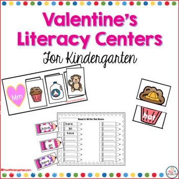 Valentine's Literacy Centers for Kindergarten
