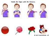 Valentine's Sign Language packet