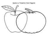 Venn Diagram - apples/pumpkins