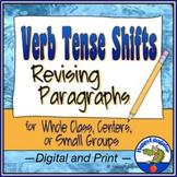 Verb Tense Shifts Paragraph Revising Worksheet