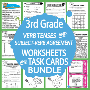 Verb Tenses and Subject Verb Agreement-Third Grade Common