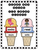 Verbs and Nouns Ice Cream Scoops