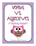 Verbs vs. Adjectives Word Sort with QR Codes!