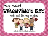 Very Sweet Valentine's Day Math and Literacy Centers