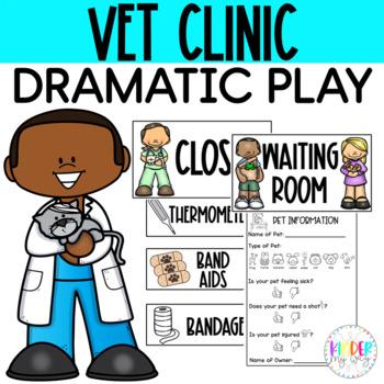Veterinarian Clinic Dramatic Play Printables