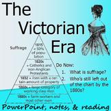 VICTORIAN ERA & BRITISH WOMEN'S SUFFRAGE: powerpoint, cloz