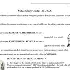 Video Study Guide: I.O.U.S.A.