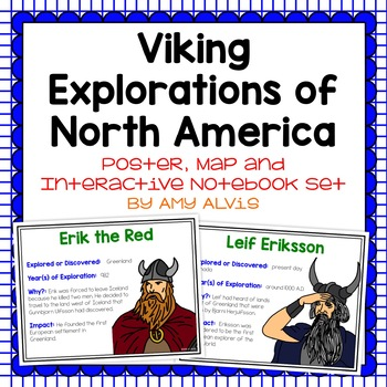 Viking Exploration of N. America Poster, Map, and Interact