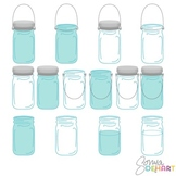 Vintage Mason Ball Jars Clip Art and .EPS file