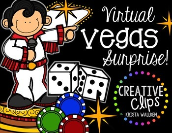 Virtual VEGAS Surprise {Creative Clips Digital Clipart}