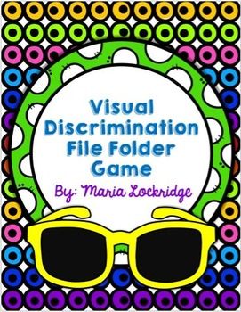 Visual Discrimination File Folder Game