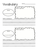 Vocabulary Activities Primary Grades