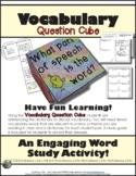 Vocabulary Comprehension Cube Common Core Aligned ELA L.3.