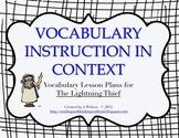 Vocabulary Lesson Plans - The Lightning Thief