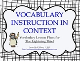 Vocabulary Lesson Plans - The Lightning Thief
