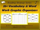 Vocabulary Word Work Graphic Organizers Common Core