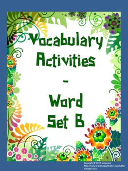 Vocabulary Word of the Day set B (activities)