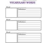 Vocabulary page
