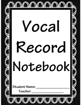 Vocal Record FREEBIE!