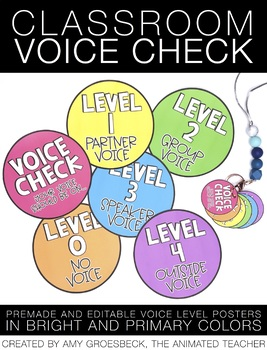 Voice Check Chart - EDITABLE