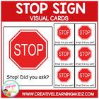 Autism Stop Sign Cards ABA PECS