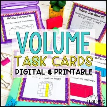 Volume Task Cards { Rectangular Prisms Including Additive Volume }