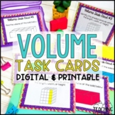 Volume Task Cards { Rectangular Prisms Including Additive