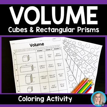 Volume of Cubes and Rectangular Prisms Coloring Page