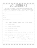 Volunteer Form for Parents