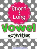 Vowel Activities BUNDLE for Short and Long Vowels