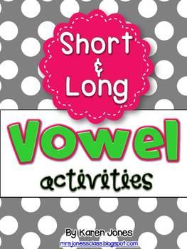 Vowel Activities BUNDLE for Short and Long Vowels
