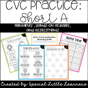 https://www.teacherspayteachers.com/Product/CVC-Word-Practice-Short-A-1639676