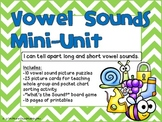 Vowel Sounds Mini-Unit-Activities and Printables for Long