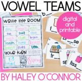 Vowel Teams Workstations and Printables