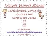 Vowel Word Sorts