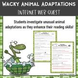Wacky Animal Adaptations Webquest Research Activity Common Core