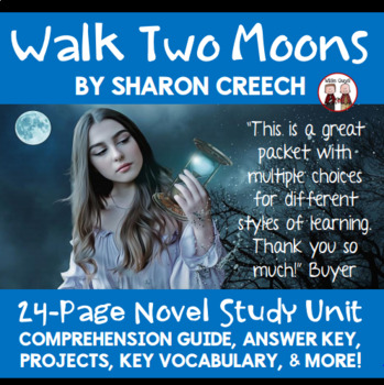 Walk Two Moons Novel Comprehension Activity Guide