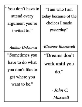 Wall of Wisdom Inspirational Quotes