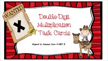 Wanted - Double Digit Multiplication Task Cards