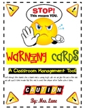 Warning Cards (A Classroom Management Tool!)