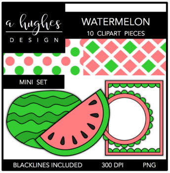 Watermelon Mini Set {Graphics for Commercial Use}