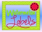 Watermelon Theme Labels