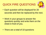 Waves quick fire questions