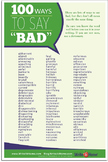 "Ways to Say ""Bad"" Poster"
