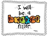 We Are Bucket Fillers! Bulletin Board Display