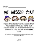 We Missed You! Letter
