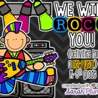 First Week Activities & Printables {We Will ROCK You!}